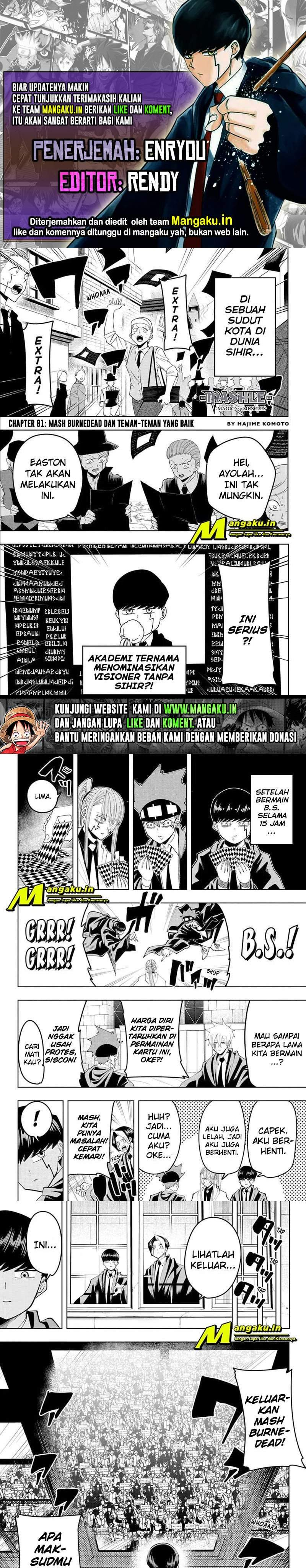 Mashle: Magic and Muscles Chapter 81
