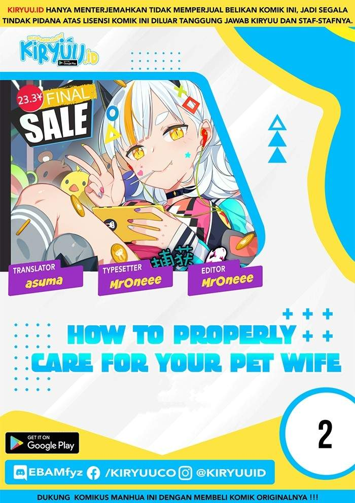 How To Properly Care For Your Pet Wife Chapter 02